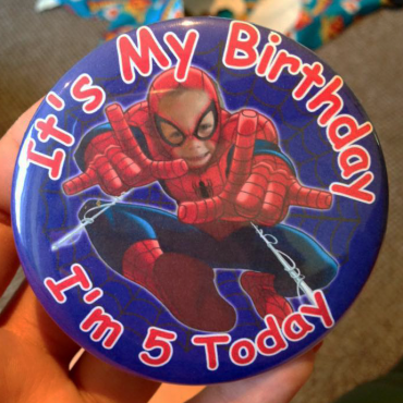 personalised birthday badges made in the UK by BadgeBoy - The Personalised Badge Experts
