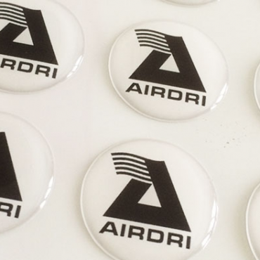 domed resin stickers made in the UK by BadgeBoy - The Personalised Badge Experts