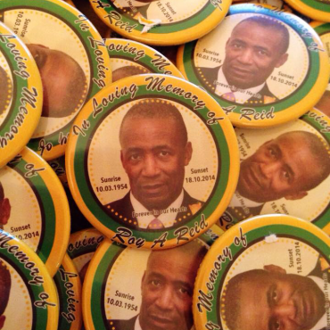 personalised funeral badges made in the UK by BadgeBoy - The Personalised Badge Experts