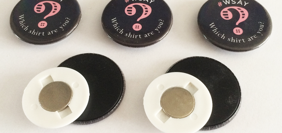 personalised magnetic button badges made in the UK by BadgeBoy - The Personalised Badge Experts