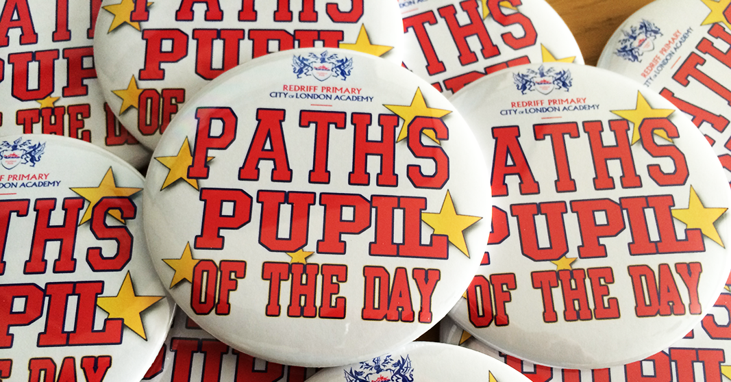 personalised school button badges made in the UK by BadgeBoy - The Personalised Badge Experts