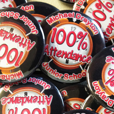 personalised school reward button badges made in the UK by BadgeBoy - The Personalised Badge Experts