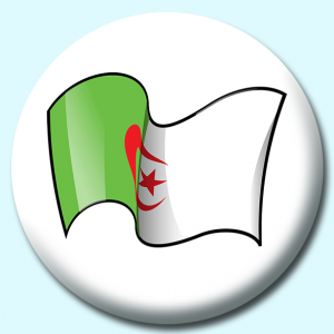 Personalised Badge: 75mm Algeria Button Badge. Create your own custom badge - complete the form and we will create your personalised button badge for you.