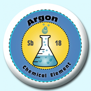 Personalised Badge: 75mm Argon Button Badge. Create your own custom badge - complete the form and we will create your personalised button badge for you.