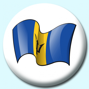 Personalised Badge: 75mm Barbados Button Badge. Create your own custom badge - complete the form and we will create your personalised button badge for you.