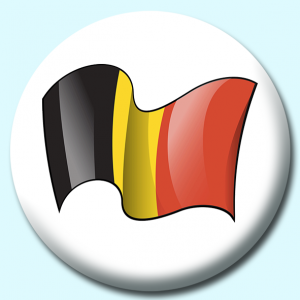 Personalised Badge: 38mm Belgium Button Badge. Create your own custom badge - complete the form and we will create your personalised button badge for you.