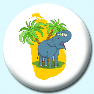 Personalised Badge: 38mm Sri Lankan Elephant Button Badge. Create your own custom badge - complete the form and we will create your personalised button badge for you.