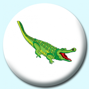 Personalised Badge: 75mm Alligator Button Badge. Create your own custom badge - complete the form and we will create your personalised button badge for you.
