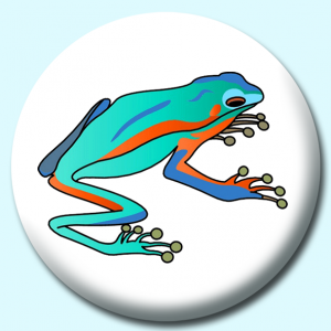 Personalised Badge: 58mm Amazonian Frog Button Badge. Create your own custom badge - complete the form and we will create your personalised button badge for you.