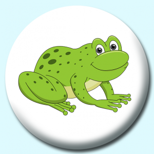 Personalised Badge: 75mm Amphibian Frog Button Badge. Create your own custom badge - complete the form and we will create your personalised button badge for you.