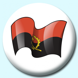 Personalised Badge: 75mm Angola Button Badge. Create your own custom badge - complete the form and we will create your personalised button badge for you.