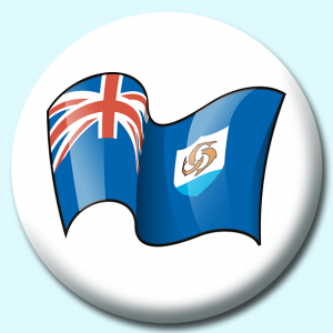 Personalised Badge: 58mm Anguilla Button Badge. Create your own custom badge - complete the form and we will create your personalised button badge for you.