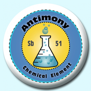 Personalised Badge: 38mm Antimony Button Badge. Create your own custom badge - complete the form and we will create your personalised button badge for you.