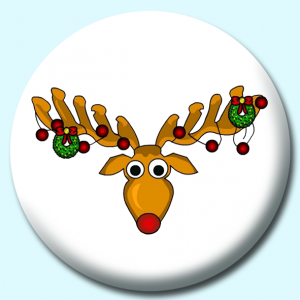 Personalised Badge: 75mm Antlers Button Badge. Create your own custom badge - complete the form and we will create your personalised button badge for you.