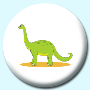Personalised Badge: 75mm Apatosaurus Button Badge. Create your own custom badge - complete the form and we will create your personalised button badge for you.