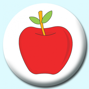 Personalised Badge: 25mm Apple For Teacher Button Badge. Create your own custom badge - complete the form and we will create your personalised button badge for you.