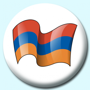 Personalised Badge: 75mm Armenia Button Badge. Create your own custom badge - complete the form and we will create your personalised button badge for you.