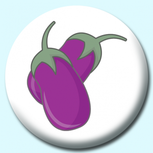 Personalised Badge: 58mm Aubergine Button Badge. Create your own custom badge - complete the form and we will create your personalised button badge for you.