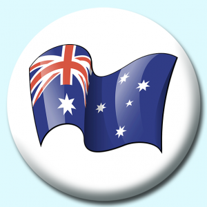 Personalised Badge: 75mm Australia Button Badge. Create your own custom badge - complete the form and we will create your personalised button badge for you.