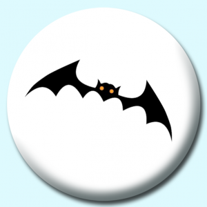 Personalised Badge: 75mm Bat Button Badge. Create your own custom badge - complete the form and we will create your personalised button badge for you.