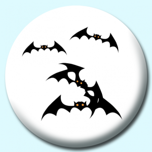 Personalised Badge: 58mm Bats Button Badge. Create your own custom badge - complete the form and we will create your personalised button badge for you.