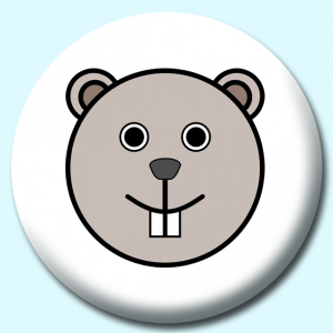 Personalised Badge: 58mm Beaver Button Badge. Create your own custom badge - complete the form and we will create your personalised button badge for you.