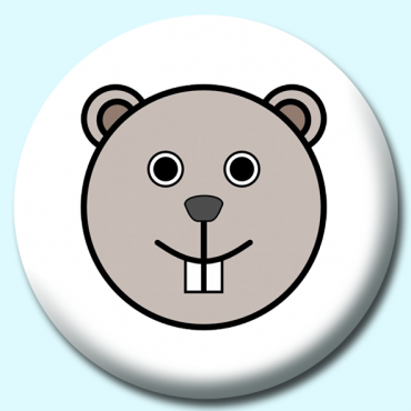 58mm Beaver Button...