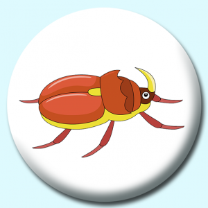 Personalised Badge: 58mm Beetle Insects Button Badge. Create your own custom badge - complete the form and we will create your personalised button badge for you.