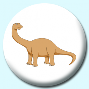 Personalised Badge: 38mm Camarasaurus Button Badge. Create your own custom badge - complete the form and we will create your personalised button badge for you.