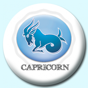 Personalised Badge: 38mm Capricorn Button Badge. Create your own custom badge - complete the form and we will create your personalised button badge for you.