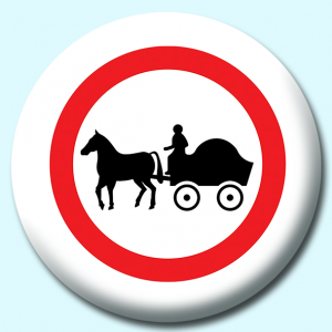 Personalised Badge: 58mm Carriages Button Badge. Create your own custom badge - complete the form and we will create your personalised button badge for you.