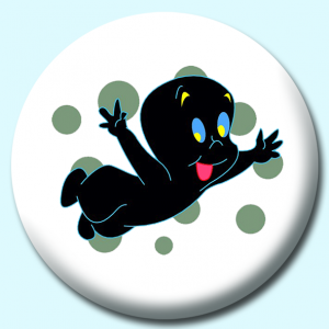 Personalised Badge: 75mm Casper Button Badge. Create your own custom badge - complete the form and we will create your personalised button badge for you.