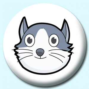 Personalised Badge: 58mm Cat Button Badge. Create your own custom badge - complete the form and we will create your personalised button badge for you.