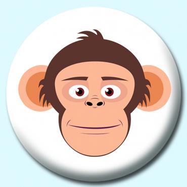 75mm Chimpanzee Button...