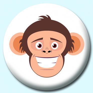 58mm Chimpanzee Face...