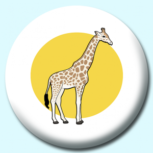 Personalised Badge: 75mm Crca Giraffe Button Badge. Create your own custom badge - complete the form and we will create your personalised button badge for you.