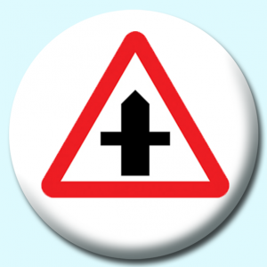 Personalised Badge: 75mm Crossroads Button Badge. Create your own custom badge - complete the form and we will create your personalised button badge for you.