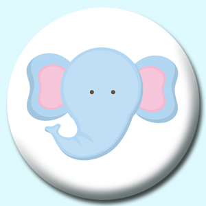 Personalised Badge: 38mm Cute Elephant Button Badge. Create your own custom badge - complete the form and we will create your personalised button badge for you.