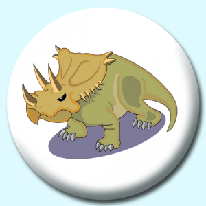 Personalised Badge: 75mm Dinosaur V2 Button Badge. Create your own custom badge - complete the form and we will create your personalised button badge for you.