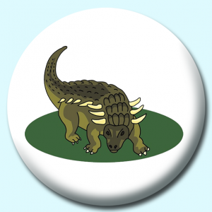 Personalised Badge: 75mm Dinosaur V3 Button Badge. Create your own custom badge - complete the form and we will create your personalised button badge for you.