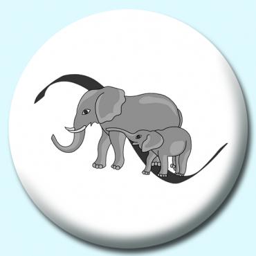 38mm Elephants Button...