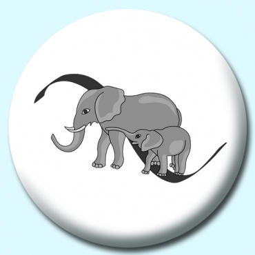58mm Elephants Button...