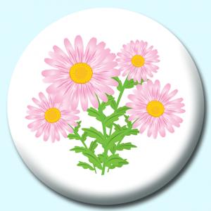 58mm Flower Badges