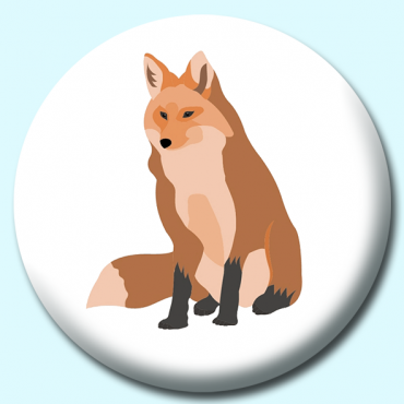 75mm Fox Button...