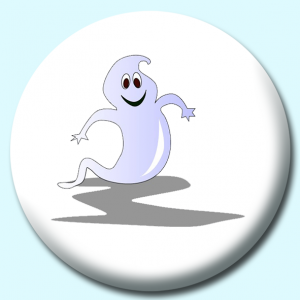 Personalised Badge: 75mm Ghost Button Badge. Create your own custom badge - complete the form and we will create your personalised button badge for you.