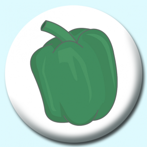 Personalised Badge: 75mm Green Bell Pepper Button Badge. Create your own custom badge - complete the form and we will create your personalised button badge for you.