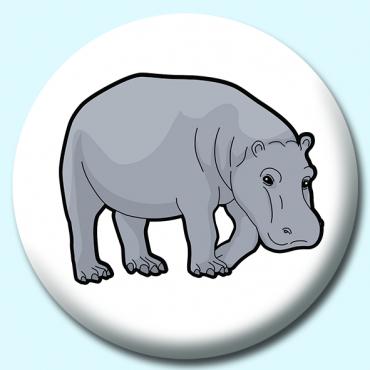 58mm Hippopotami Button...