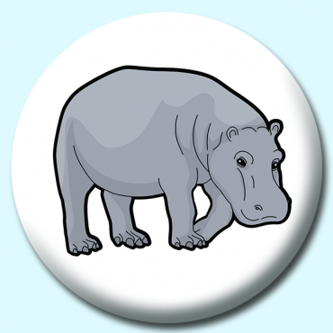 75mm Hippopotami Button...