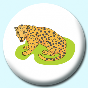 58mm Leopard Button...