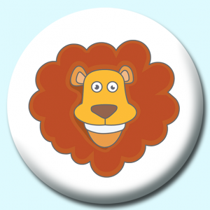 Personalised Badge: 38mm Lion Button Badge. Create your own custom badge - complete the form and we will create your personalised button badge for you.